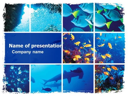 Underwater Life PowerPoint Template, 05603, Nature & Environment — PoweredTemplate.com