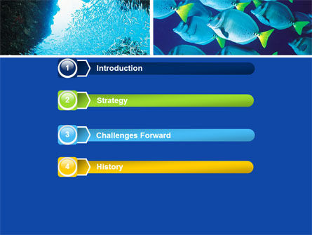 Underwater Life PowerPoint Template, Slide 3, 05603, Nature & Environment — PoweredTemplate.com