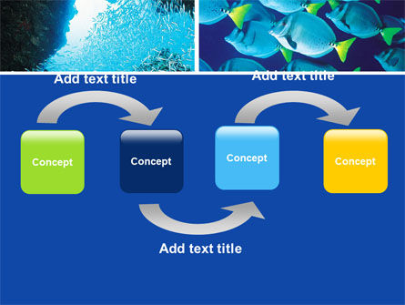 Underwater Life PowerPoint Template, Slide 4, 05603, Nature & Environment — PoweredTemplate.com