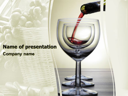 Wine PowerPoint Template, 05605, Careers/Industry — PoweredTemplate.com