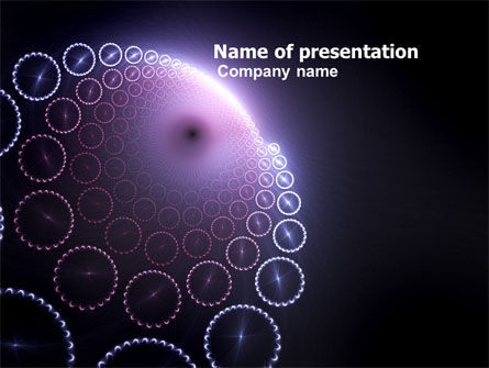Abstract/Textures: Violet Fantasy PowerPoint Template #05608