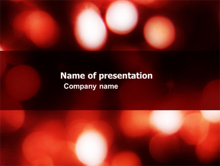 Red Lights PowerPoint Template, 05609, Abstract/Textures — PoweredTemplate.com
