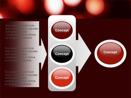 Red Lights PowerPoint Template Slide 11