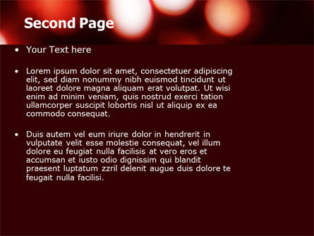 Red Lights PowerPoint Template Slide 2