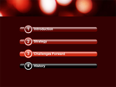 Red Lights PowerPoint Template, Slide 3, 05609, Abstract/Textures — PoweredTemplate.com