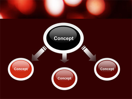 Red Lights PowerPoint Template, Slide 4, 05609, Abstract/Textures — PoweredTemplate.com