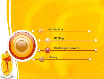 Glass Of Orange Slices PowerPoint Template Slide 3