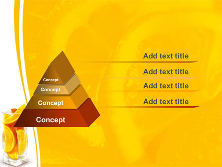 Glass Of Orange Slices PowerPoint Template Slide 4