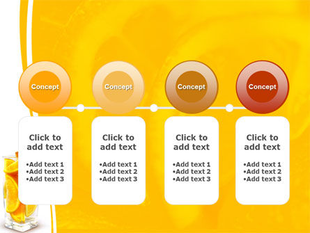 Glass Of Orange Slices PowerPoint Template Slide 5