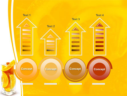 Glass Of Orange Slices PowerPoint Template Slide 7