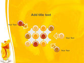 Glass Of Orange Slices PowerPoint Template#10