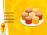 Glass Of Orange Slices PowerPoint Template#12
