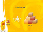 Glass Of Orange Slices PowerPoint Template#13