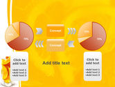 Glass Of Orange Slices PowerPoint Template#16