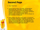 Glass Of Orange Slices PowerPoint Template#2