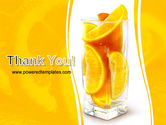 Glass Of Orange Slices PowerPoint Template#20