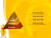 Glass Of Orange Slices PowerPoint Template#4