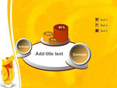 Glass Of Orange Slices PowerPoint Template#6