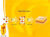 Glass Of Orange Slices PowerPoint Template#9