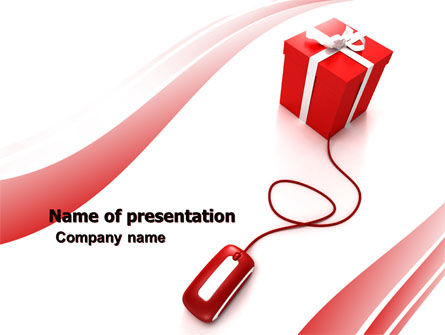 Online Gift Shop PowerPoint Template, 05612, Careers/Industry — PoweredTemplate.com