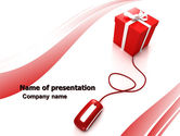 Careers/Industry: Online Gift Shop PowerPoint Template #05612