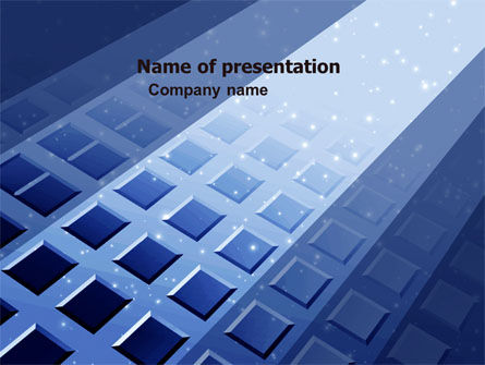 Abstract/Textures: Blue Lattice PowerPoint Template #05613