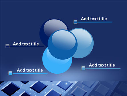 Blue Lattice PowerPoint Template Slide 10