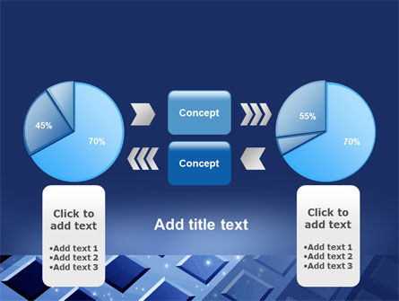 Blue Lattice PowerPoint Template Slide 11