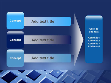 Blue Lattice PowerPoint Template Slide 12