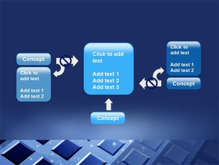 Blue Lattice PowerPoint Template Slide 13