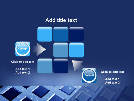 Blue Lattice PowerPoint Template Slide 16