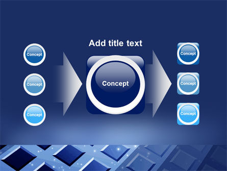 Blue Lattice PowerPoint Template Slide 17