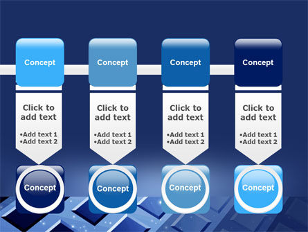 Blue Lattice PowerPoint Template Slide 18