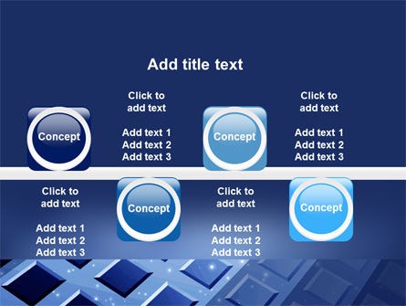 Blue Lattice PowerPoint Template Slide 19