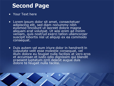 Blue Lattice PowerPoint Template Slide 2