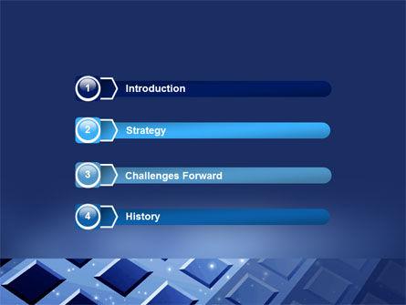 Blue Lattice PowerPoint Template, Slide 3, 05613, Abstract/Textures — PoweredTemplate.com