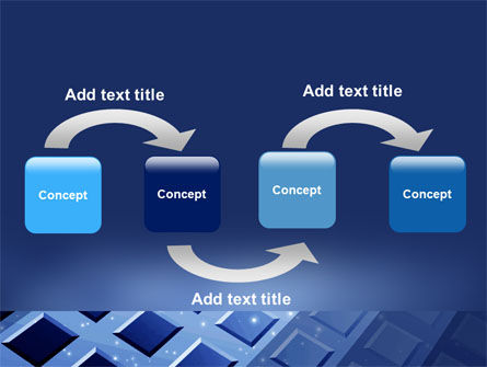 Blue Lattice PowerPoint Template Slide 4