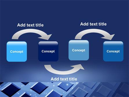 Blue Lattice PowerPoint Template, Slide 4, 05613, Abstract/Textures — PoweredTemplate.com