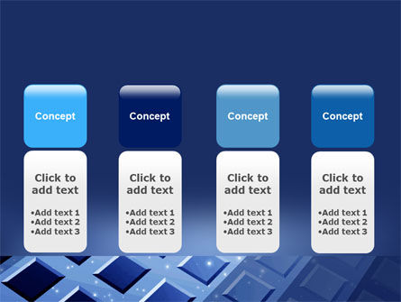 Blue Lattice PowerPoint Template Slide 5