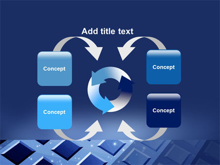 Blue Lattice PowerPoint Template Slide 6