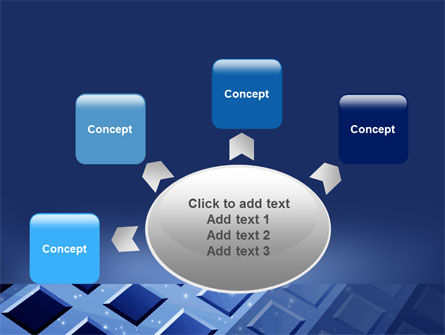 Blue Lattice PowerPoint Template Slide 7