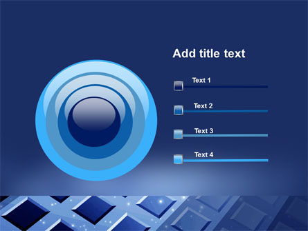 Blue Lattice PowerPoint Template Slide 9