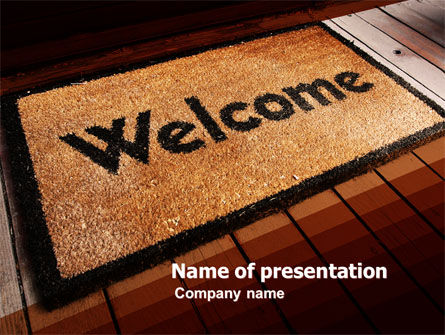 Welcome Carpet PowerPoint Template, 05615, Business Concepts — PoweredTemplate.com