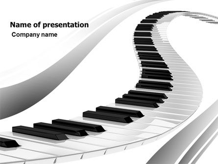 Careers/Industry: Piano PowerPoint Template #05616