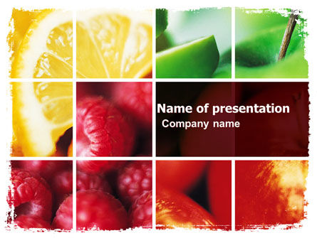Fresh Fruits PowerPoint Template, 05617, Agriculture — PoweredTemplate.com