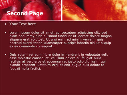 Fresh Fruits PowerPoint Template, Slide 2, 05617, Agriculture — PoweredTemplate.com