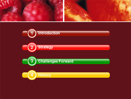 Fresh Fruits PowerPoint Template Slide 3