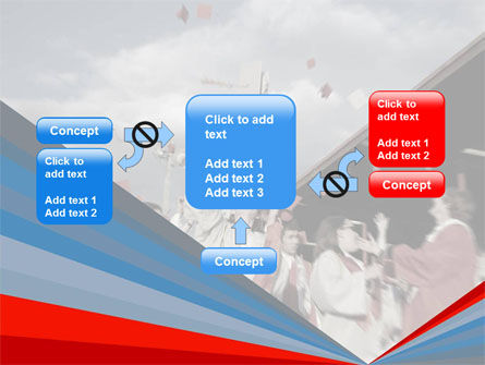 Graduation In Red Blue Colors PowerPoint Template Slide 13