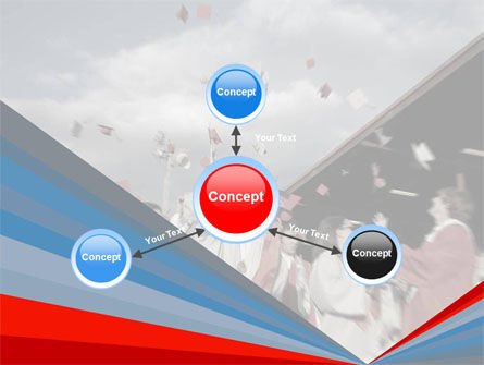 Graduation In Red Blue Colors PowerPoint Template Slide 14
