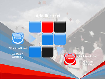 Graduation In Red Blue Colors PowerPoint Template Slide 16